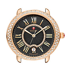 Serein 16 Diamond Rose Gold, Black Diamond Dial