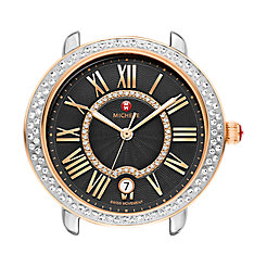 Serein 16 Diamond Two-Tone Rose Gold, Black Diamond Dial