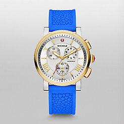 Sport Sail Large Two Tone Blue Stingray Silicone Watch