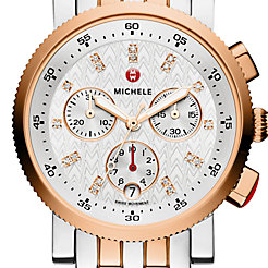 Sport Sail Small Two-Tone Rose Gold, Diamond Dial Watch