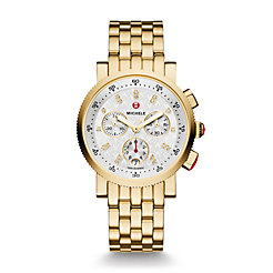 Sport Sail Small Gold, Diamond Dial Watch