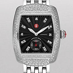 Urban Mini Diamond, Black Diamond Dial Diamond Bracelet Watch