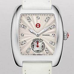 Urban Mini White Diamond Dial White Patent Watch