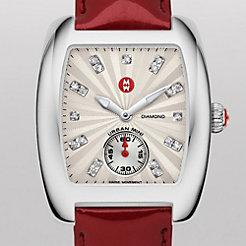 Urban Mini Non-Diamond, Diamond Dial Scarlet Patent Watch