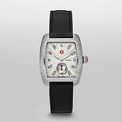 Urban Mini Diamond, Diamond Dial Black Patent Watch