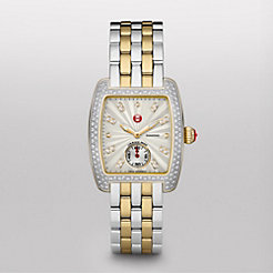 Urban Mini Diamond Two Tone, Diamond Dial Two Tone Bracelet Watch