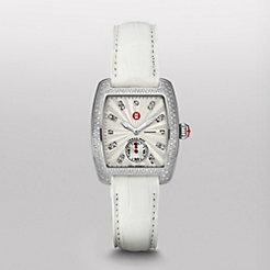 Urban Mini Diamond, Diamond Dial White Alligator Watch