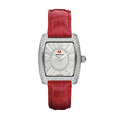Urban Mini Diamond, Diamond Dial Garnet Alligator Watch