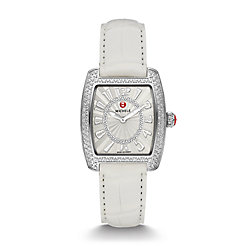 Urban Mini Diamond, Diamond Dial White Alligator Watch