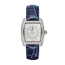 Urban Mini Diamond, Diamond Dial Navy Alligator Watch