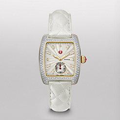 Urban Mini Diamond Two-Tone, Diamond Dial Whisper White Quilted Watch