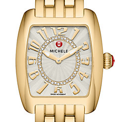 Urban Mini Gold, Diamond Dial Watch