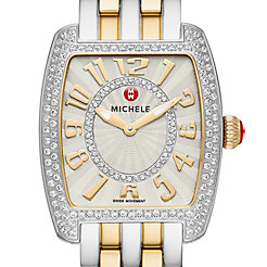 Urban Mini Diamond Two-Tone, Diamond Dial Watch