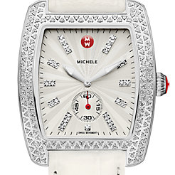 Urban Diamond, Diamond Dial White Alligator Watch
