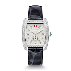 Urban Diamond, Diamond Dial Navy Alligator Watch
