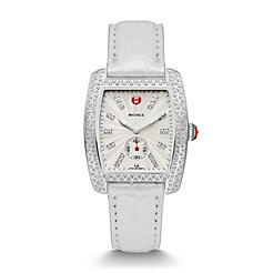 Urban Diamond, Diamond Dial Silver Alligator Watch