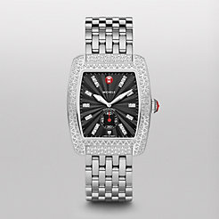 Urban Diamond, Black Diamond Dial Diamond Bracelet Watch