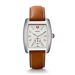 Urban, Diamond Dial Saddle Calfskin Watch
