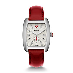 Urban, Diamond Dial Scarlet Patent Watch