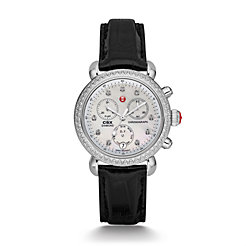 Signature CSX-36 Diamond, Diamond Dial Black Alligator Watch