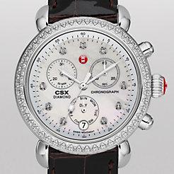 Signature CSX-36 Diamond, Diamond Dial Espresso Alligator