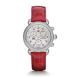 Signature CSX-36 Diamond, Diamond Dial Garnet Alligator Watch