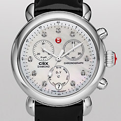 Signature CSX-36 Non-Diamond, Diamond Dial Black Patent Watch