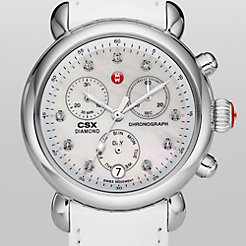 Signature CSX-36 Non-Diamond, Diamond Dial White Patent Watch