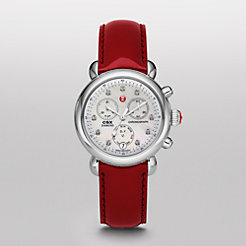 Signature CSX-36 Non-Diamond, Diamond Dial Scarlet Patent Watch