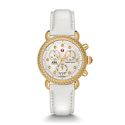 Signature CSX-36 Diamond Gold, Diamond Dial White Alligator Watch