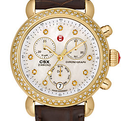Signature CSX-36 Diamond Gold, Diamond Dial Espresso Alligator Watch