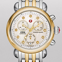 Signature CSX-36 Non-Diamond Two Tone, Diamond Dial Watch