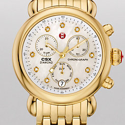 Signature CSX-36 Gold, Diamond Dial Watch