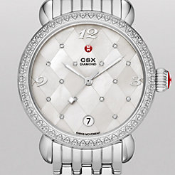 CSX Diamond, Quilted Mosaic Diamond Dial Watch