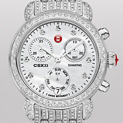 CSX-33 Pavé Diamond, Diamond Dial on Diamond Bracelet Watch