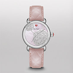 Limited Edition - CSX Jardin, Pink Diamond Dial Pearl Pink Quilted Watch