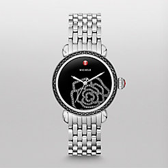 CSX Jardin Diamond Noir, Black Diamond Dial Watch