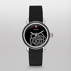 CSX Jardin Diamond Noir, Black Diamond Dial Black Stingray Watch
