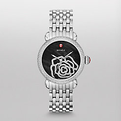 CSX Jardin Diamond, Black Diamond Dial  Watch
