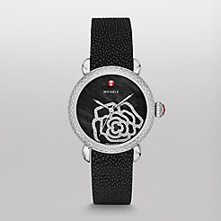 CSX Jardin Diamond, Black Diamond Dial Black Stingray Watch