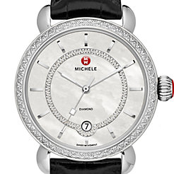 CSX Elegance Diamond, Diamond Dial Black Alligator Watch