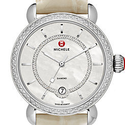 CSX Elegance Diamond, Diamond Dial Bone Alligator Watch