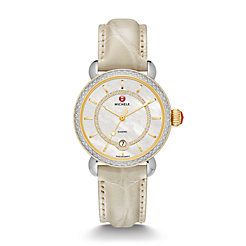 CSX Elegance Diamond Two-Tone, Diamond Dial Bone Alligator Watch
