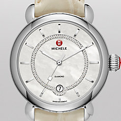 CSX Elegance, Diamond Dial Bone Alligator Watch