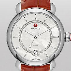 CSX Elegance, Diamond Dial Coffee Alligator Watch