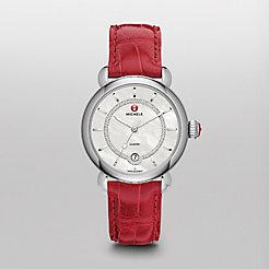 CSX Elegance, Diamond Dial Garnet Alligator Watch