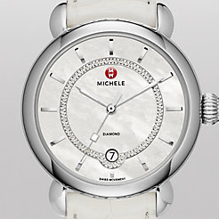CSX Elegance, Diamond Dial White Alligator Watch
