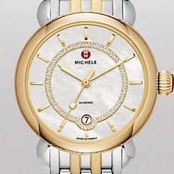 CSX Elegance Two-Tone Gold, Diamond Dial Watch