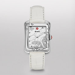 Extreme Butterfly Diamond White Alligator Watch