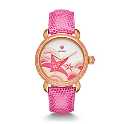 Seaside Topaz Rose Gold, Starfish Diamond Dial Watch Limited Edition Of 305